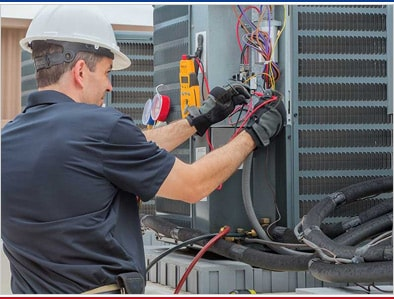 Heating and cooling equipment repairing, maintenance and replacement services